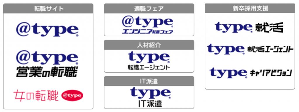 typeサービス一覧